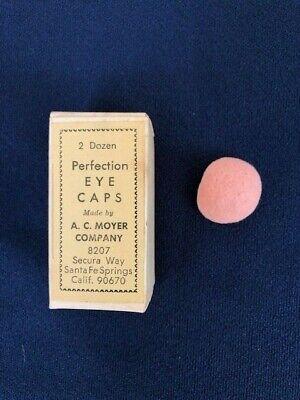 NOS 24 Perfection Eye Caps Flesh A C Moyer Co Secura Way CA Mortician Supply