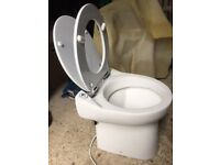 Saniflo Sanicompact cistern less ceramic toilet pan with a built-in macerator pump, i