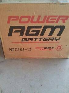 BATTERY AGM 12Volt 105 AMP DEEP CYCLE Birkdale Redland Area Preview