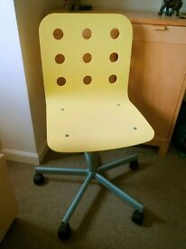 Yellow ikea chair