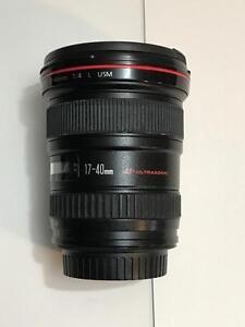 Canon EF 17-40mm f/4 L USM Lens 17-40 f4 f4.0