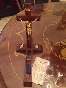 Vintage Sick Call Outfit Wall Hanging/Stand  Inri Crucifix