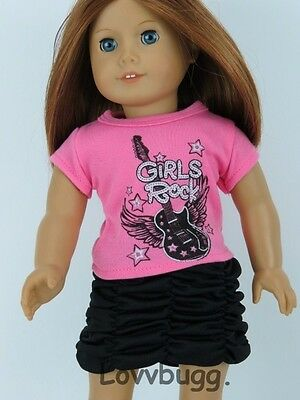 "Girls Rock Skirt Set for 18"" American Girl Doll Clothes"