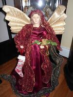 burgandy Christmas angel