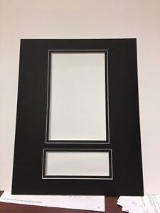 Picture Framing Mat for Playbill and theater ticket Black with Black liner fits
