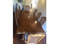Dining Table And Chairs 8ft Fully Extended 6 2 Carver
