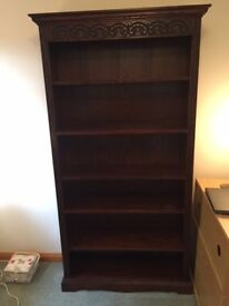Solid Oak Old Charm Bookcase