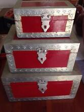 Decorative red and bronze set of 3 boxes Beaumont Hills The Hills District Preview
