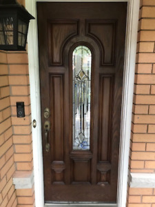 Custom Fiberglass Front Door with Glass Window