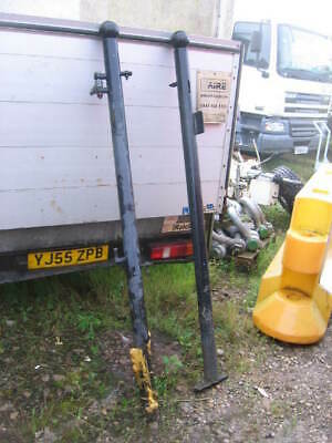 PAIR OF STEEL GATE POST APPROX 1900 mil  long OVERALL POWDER COATED