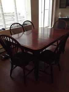 Dining Table with 6 chairs, Lazy Boy recliners (2), single chair