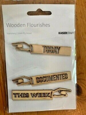 Kaisercraft Stationery Wooden Flourishes, FL568, 2mm ply wood