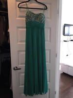 Teal long dress
