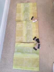 3 X LIGHT GREEN PATTERNED CUSHION COVERS