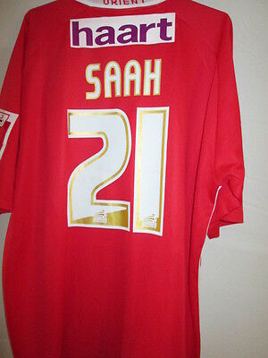 Leyton Orient Saah Match Worn & Signed 2006-2007 Home Football Shirt with COA image