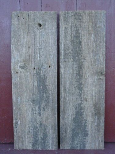 "Weathered Maine Barn Boards 2 pc 36"" x 11 3/4+"" Reclaimed Wood Best Looking"