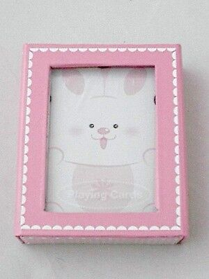 Easter Gift Idea Children's Playing Cards Russ Berrie Pink & White Bunny - Easter Game Ideas