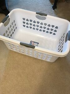 White Steriite Laundry Basket