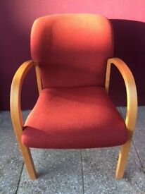 Beech stacking visitor chair