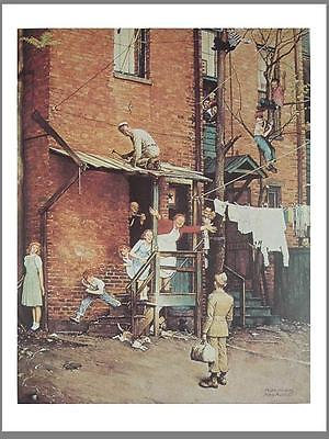 Norman Rockwell Poster Art Print HOMECOMING GI 1945 army soldier