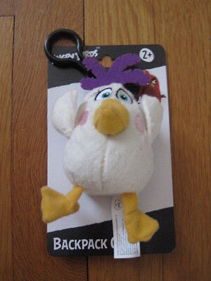 New 2016 ANGRY BIRDS MOVIE Plush Backpack Clip - Matilda FREE SHIPPING