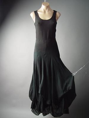 Victorian Steampunk Goth Dark Mori Girl Black Bustle Maxi 281 mv Dress S M L
