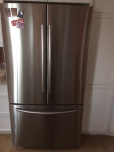 Samsung Refrigerator - brushed metal
