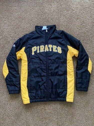Majestic Pittsburgh Pirates On-Field Jacket Youth Size M