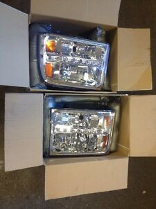 NEW 99-04 F250-350 SUPERDUTY 05 UP CONVERSION HEADLIGHTS