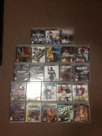 PS3, 23 Games, 2 Controllers, Rockstar Band and accessories.