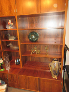 Rosewood 6 piece display cabinet by Musterring