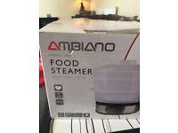 NEW IN BOX Ambiano Electric Food Steamer Rice 3 Tier Vegetable 800 Watt 9 RETAIL COST £28.99