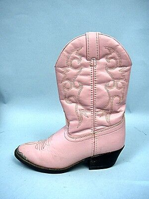 Pink Faux Leather Cowboy Boots by Dingo - Girls Size 1 1/2