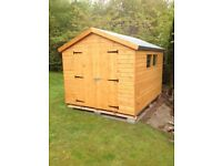 10ft x 8ft Wooden Garden Apex Shed
