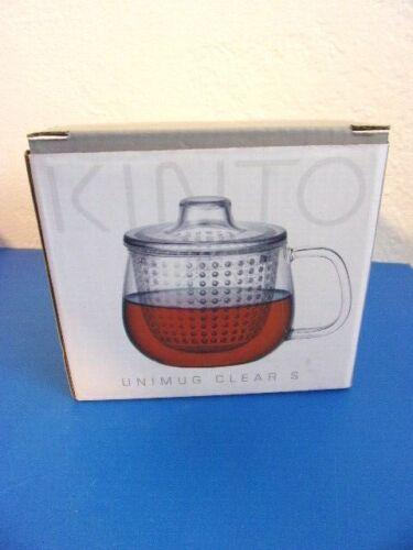 NEW - Kinto Unitea Unimug Mug Cup Tea Strainer Infuser Clear # 22911 Japan