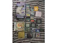 gameboy advance color joblot bundle pokemon silver crystal heart gold yellow mario zelda