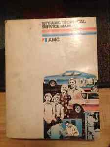 1976 AMC Technical Service Manual Kitchener / Waterloo Kitchener Area image 1