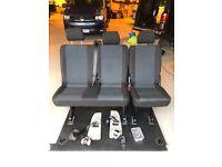 VW T6 or T5 rear kombi seats. double and single set.