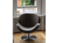 Bo Concept Leather Schelly Swivel Chair