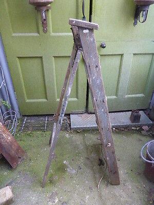 Vintage wooden decorators stepladder or step ladder