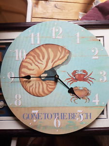Beach Nautical Home Decor Clock, Pictures