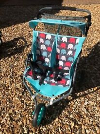 Dimples Mia Twin Jogger Dolls pram/buggy