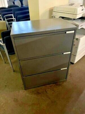 3 Drawer Lateral Size File Cabinet By Herman Miller Meridian Wlockkey 30w