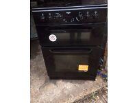 £124.49 Bush black ceramic electric cooker+60cm+3 months warranty for £124.49