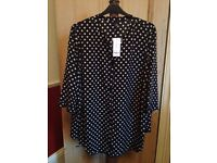 Evans Size 32 New : Long Black and white spotted shirt