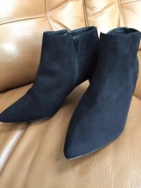Next ladies black suede ankle boots
