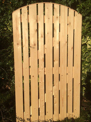 BESPOKE SIZED Beckets Garden Gate Planed Smooth Side Gate Arch Top