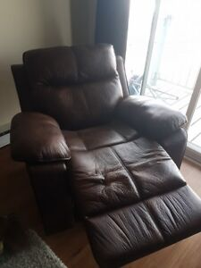 Brushed Suede Rocking Recliner