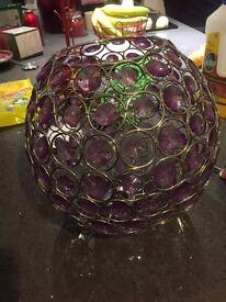 Purple Glass light shade