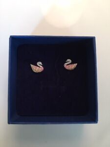 Swarovski Iconic Swan Earrings with Box – BRAND NEW, NEVER WORN